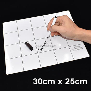 30cm x 25cm White Magnetic Project Mat Screw Working Pad with Marker Pen Eraser for Cell Phone Laptop Tablet DIY Repair 50pcs