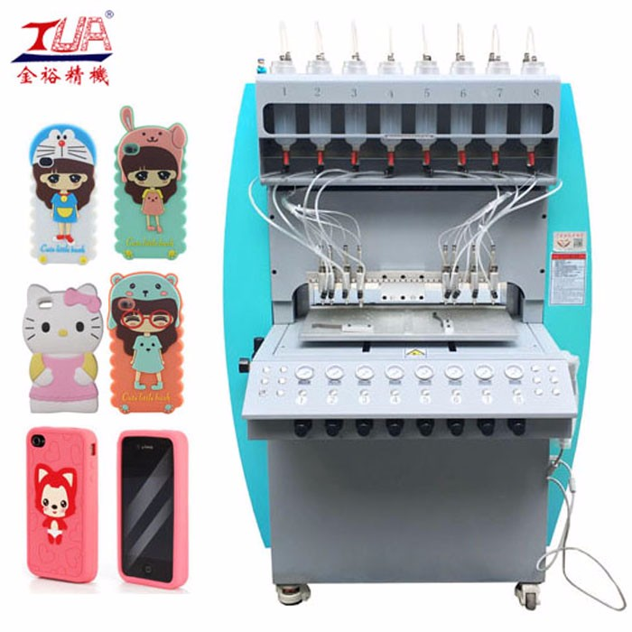 Guangdong Silicone Multicolored Phone Cover Injection Machine