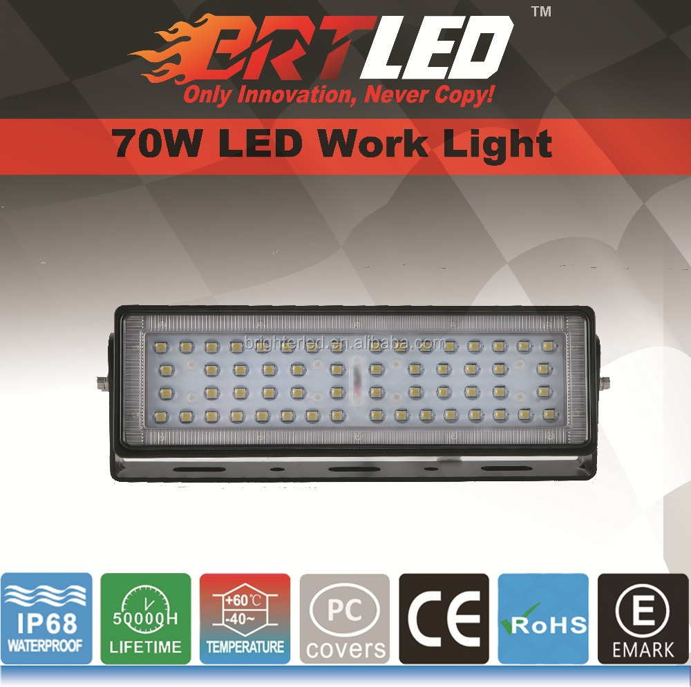70W LED Work Light: ECE R10, IP68 70degree&140degree are available