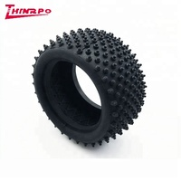 Custom Toy Car Plastic Rubber Tires Anti friction rubber toy car tire with embossed spikes