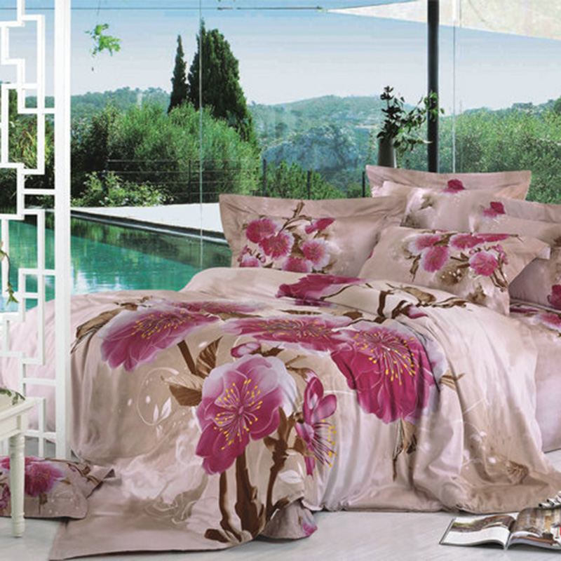 Latest Beautiful Luxury Twin 3d Rose Print Bed Sheets