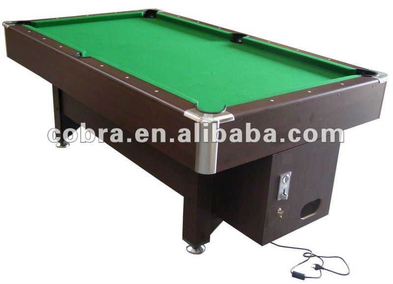 Electronic coin operated 9 FT Billiard Table with Ball Return