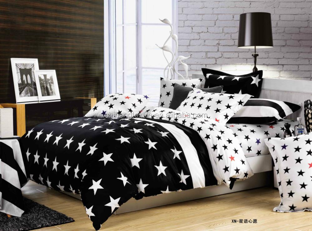 motif de broderie noir et blanc toiles literie drap de lit ensemble literie id de produit. Black Bedroom Furniture Sets. Home Design Ideas