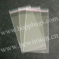 8x19.5cm 970 pieces /pack Clear Plastic Poly Bags bopp cello bags with self adhesive tape seal