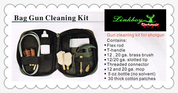 Bag gun cleaning kit for shotgun linkboy hunting