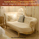 baroque wedding chaise lounge, right side chaise, wedding design