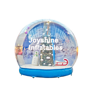 Custom Clear Christmas Inflatable Human Size Snow Globe For Sale