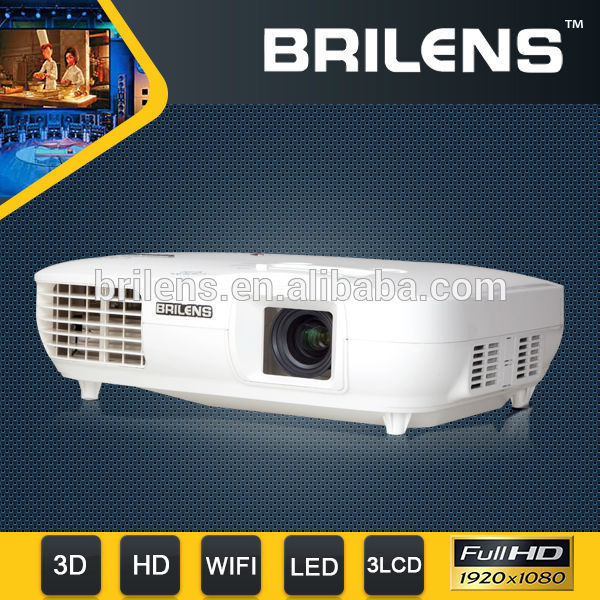 BRILENS TL1920 Ivy 3LCD 3LED <strong>Projector</strong>,Full HD <strong>Projector</strong> 1080P,1920x1080 3000 Lumens 3D LED <strong>Projector</strong>