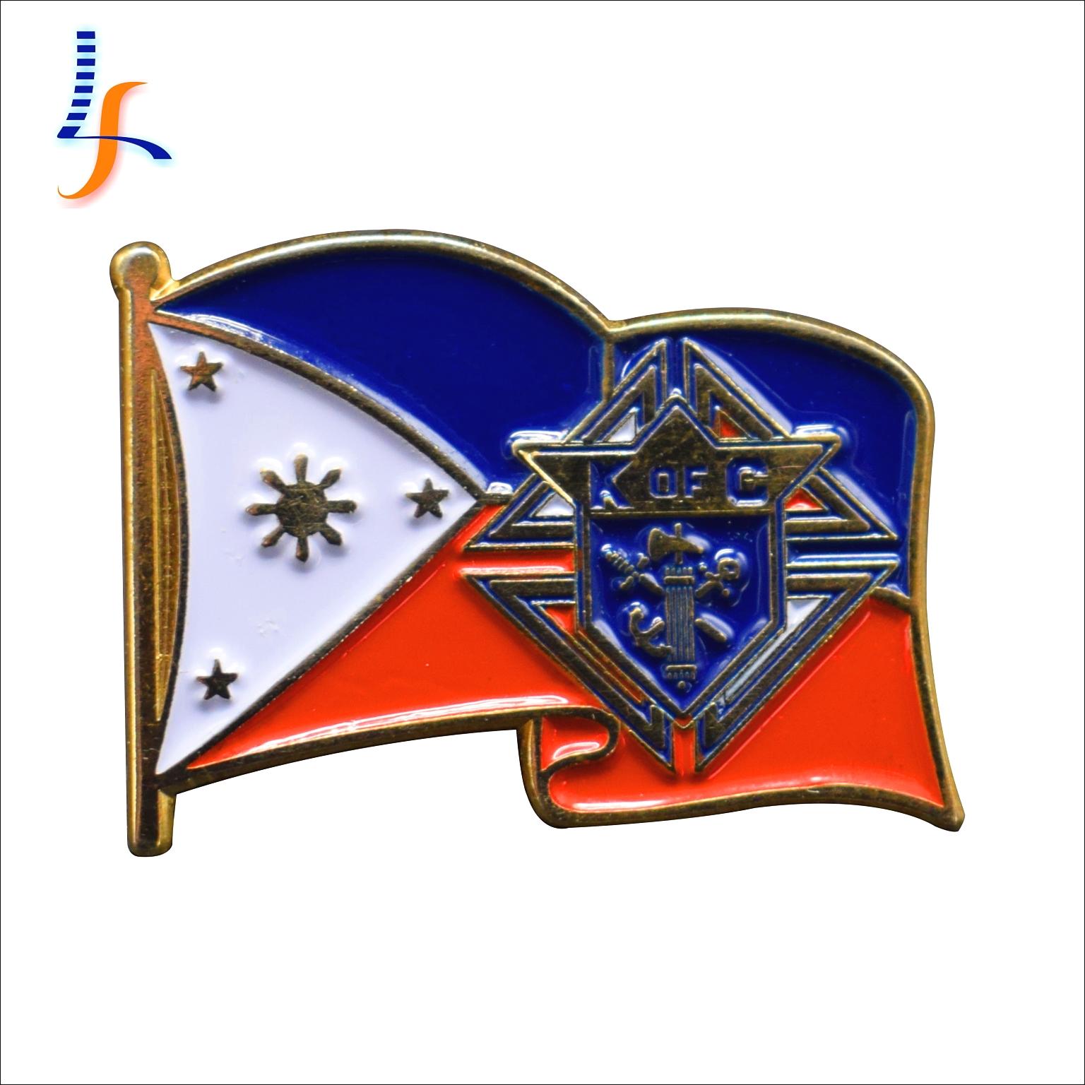 Grosir Kustom OEM Bangsa Lembut Enamel Bendera Kerah Pin