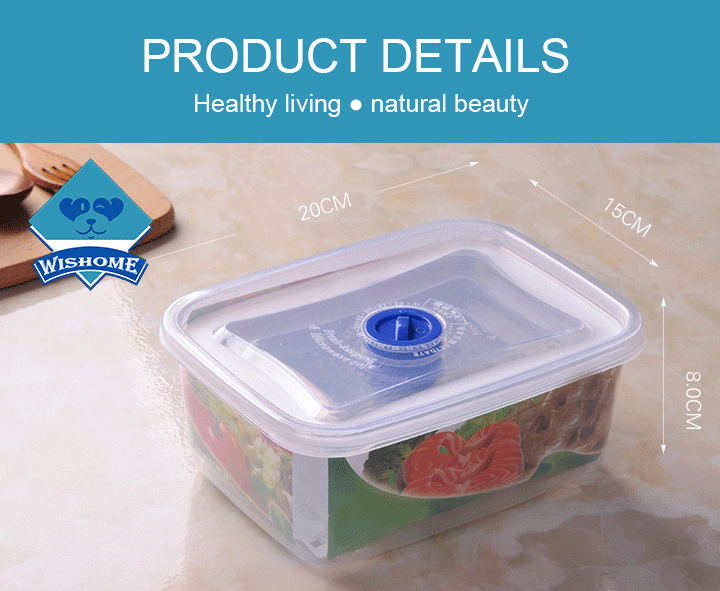 Wishome Brand 2000ml Top selling Wholesale Easy Open Small PP Plastic Portable Dry Food Storage Container
