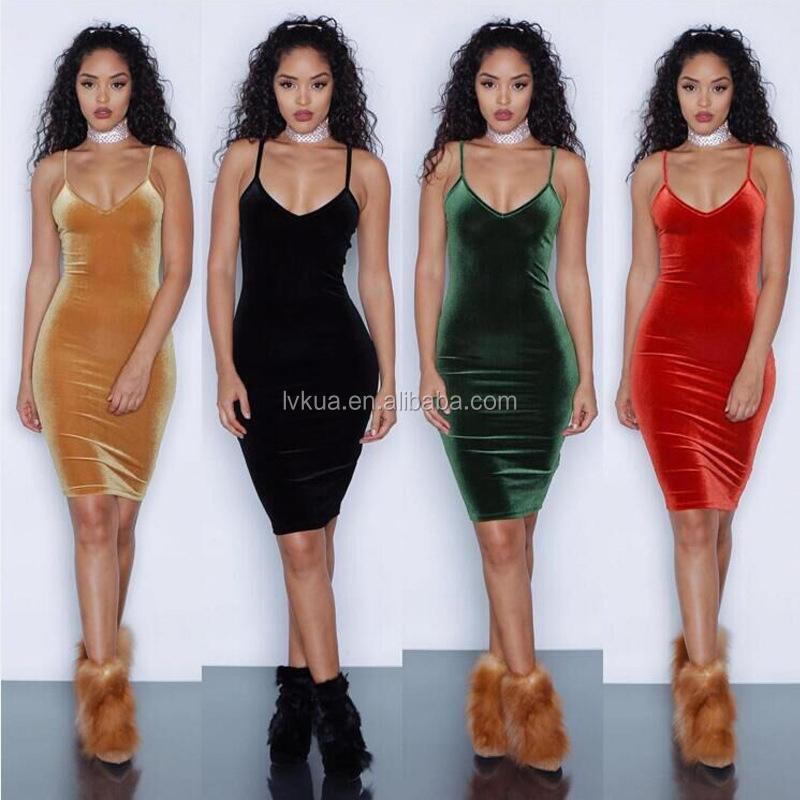 6260953a5 2017 الجملة الرخيصة الأزياء 4 ألوان pleuche المرأة مثير bodycon فساتين الصيف