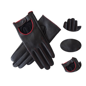 New Ladies Fashion Dress Aniline Leather Cycling Driving Gloves