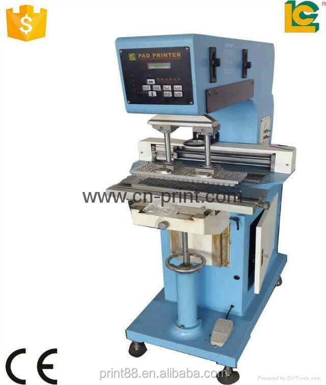 Single Color Transverse Flow Pad Printing machine for plastic and hardwear
