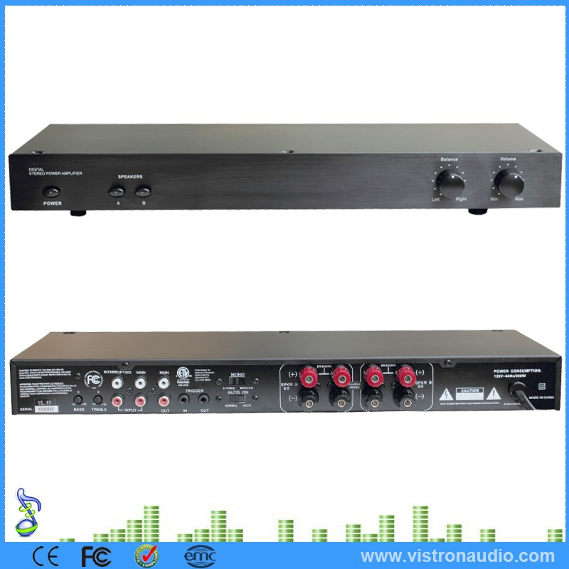 Factory Supply Multi channel Large Power Amplifier Digital Stereo Power Amplifier For Home Theater System