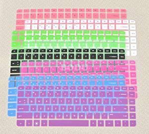 Bodu Colorful Keyboard Protector for HP Pavilion G4 G6 M4;Envy 4 6 15 Pro;DM4 DV4;HP 450 1000 2000;Presario 431 430 450 Q43 CQ57 CQ45 Pavilion TouchSmart 14-B137TX,242 G1 246 G1 (2 Pack Order,See Description)