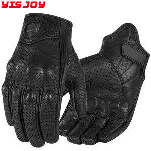 Motocross motorbike waterproof glove leather cross country gloves with synthetic