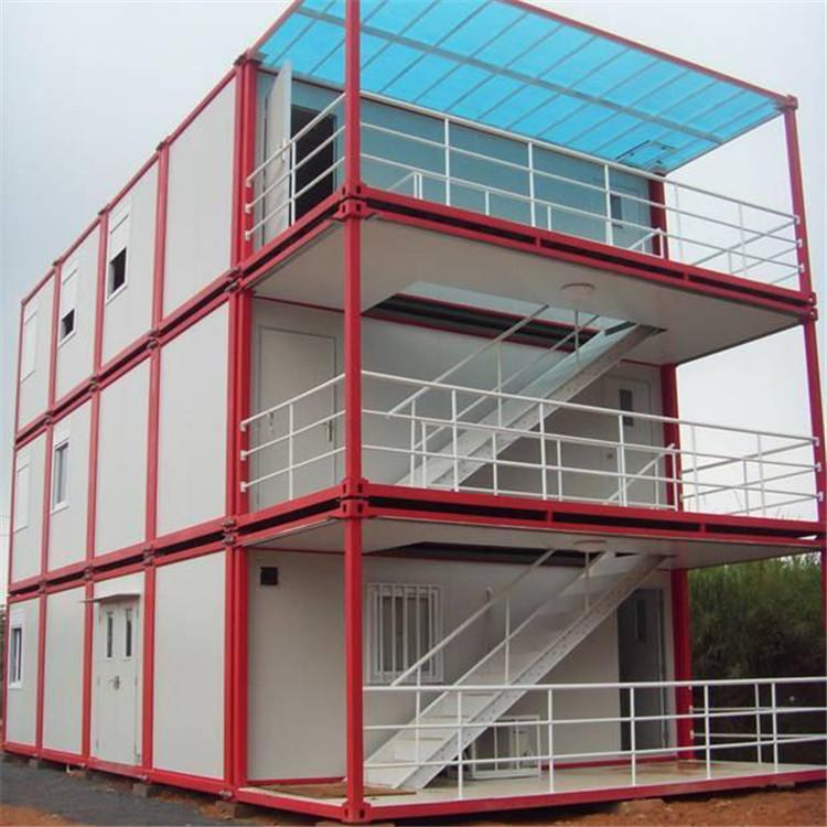 Telaio in acciaio Case Prefabricade Cina Portatile Cabina Contenitore di Piccole Case Con Garage