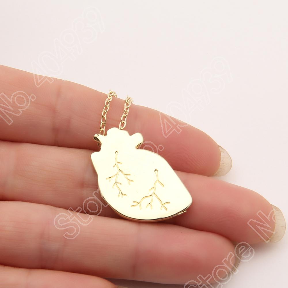 30 шт. анатомический в форме сердца ожерелье шарма ожерелья и кулоны милые нежные изящная золотая колье ожерелье женщины ожерелье