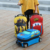 2020 new  kids cute  travel case car shape design travel cartoon luggage  set great kid suitcase for children