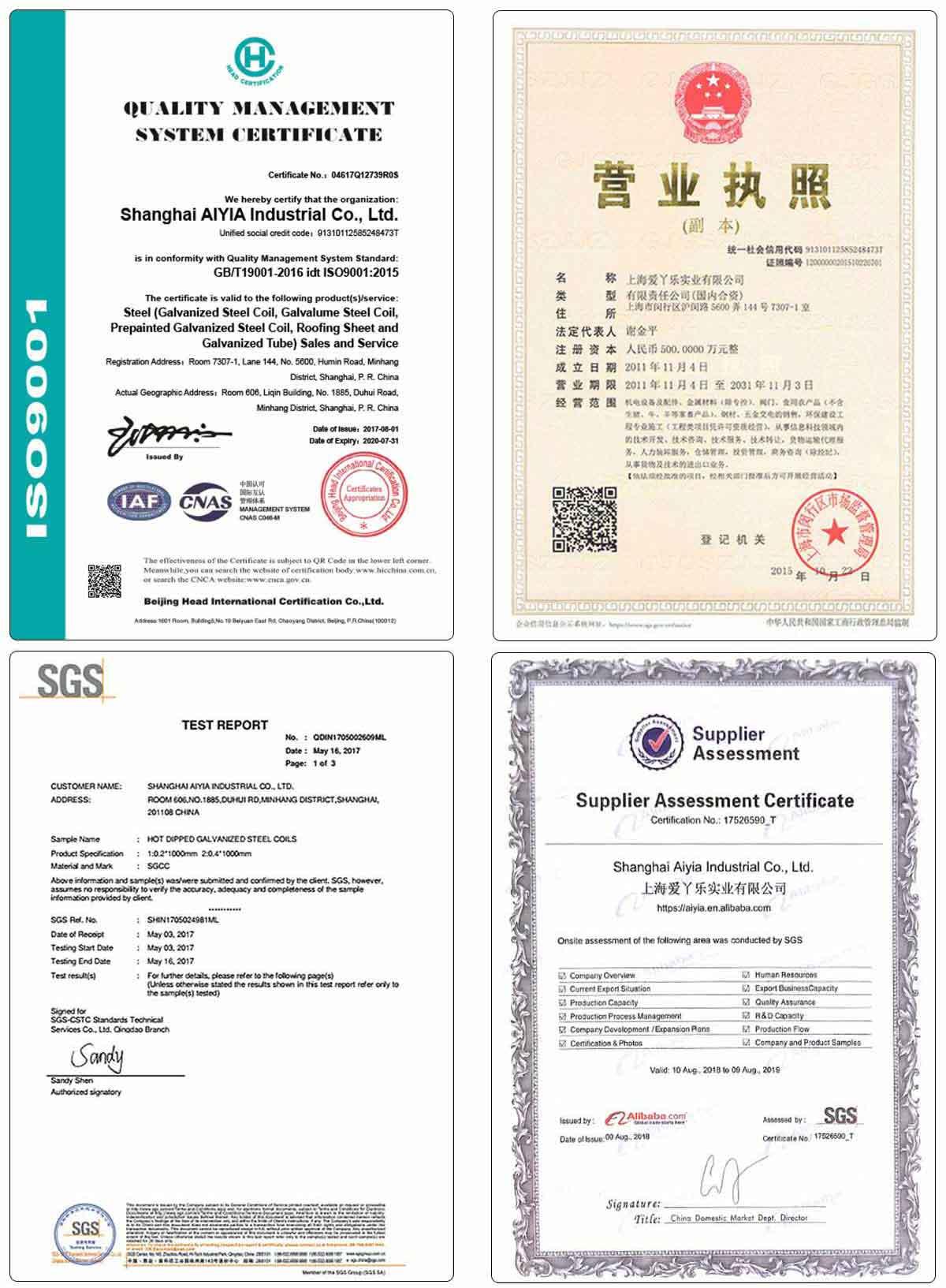 AIYIA Zam Zn-Al-Mg Coating Staal Zam275g Legeringen Superdyma Zink Aluminium Magnesium Gecoat Staal met prijzen