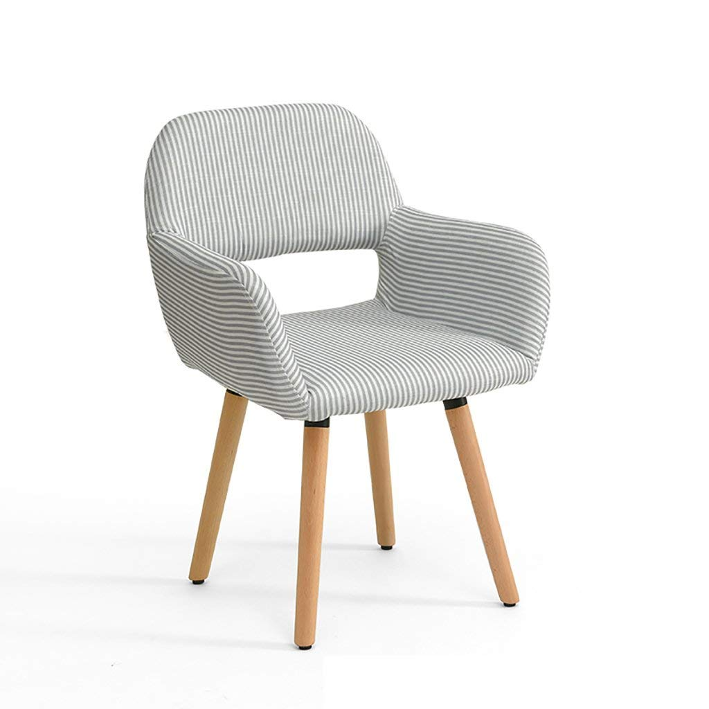 Simple modern fabric dining chair Leisure chair Solid wood chair foot desk chair Computer chair Commercial conference chair Negotiating chair Multiple colors to choose from (Color : G)