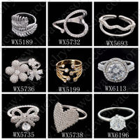 New Girl 18k Gold Filled Zircon Finger Ring New Gold Ring Models Saudi Gold Jewelry Diamonds Micro Pave Rings