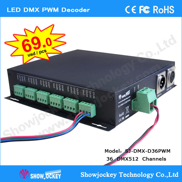 5-24V LED Dimmer DMX512 to PWM Decoder