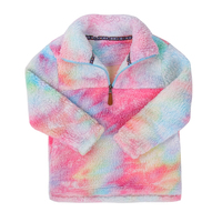 Hot Sale Women Frosty Sherpa Fleece Half Zip Pullover for mommy and me