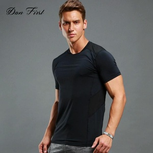 OEM Mesh fabric shirt dry fit sport Nylon/Spandex custom sports shirt