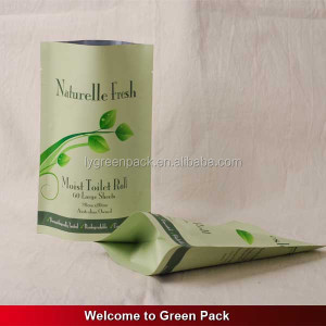 biodegradable custom printing self adhesive round bottom tissue paper packing plastic bags