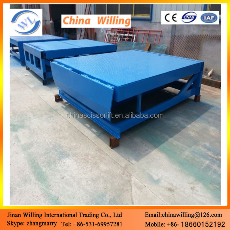 Stationary dock forklift ramps dock levelers
