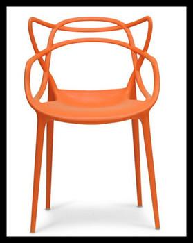 Chaise En Plastique Design Orange Quot