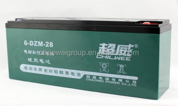 Maintenance Free (MF) Battery for bicycle, 12V 28Ah