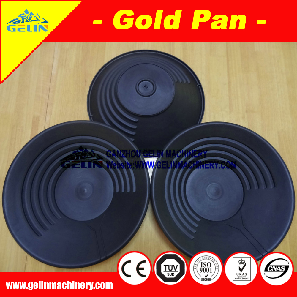 "popular in England 15"" black plastic gold panning dish"