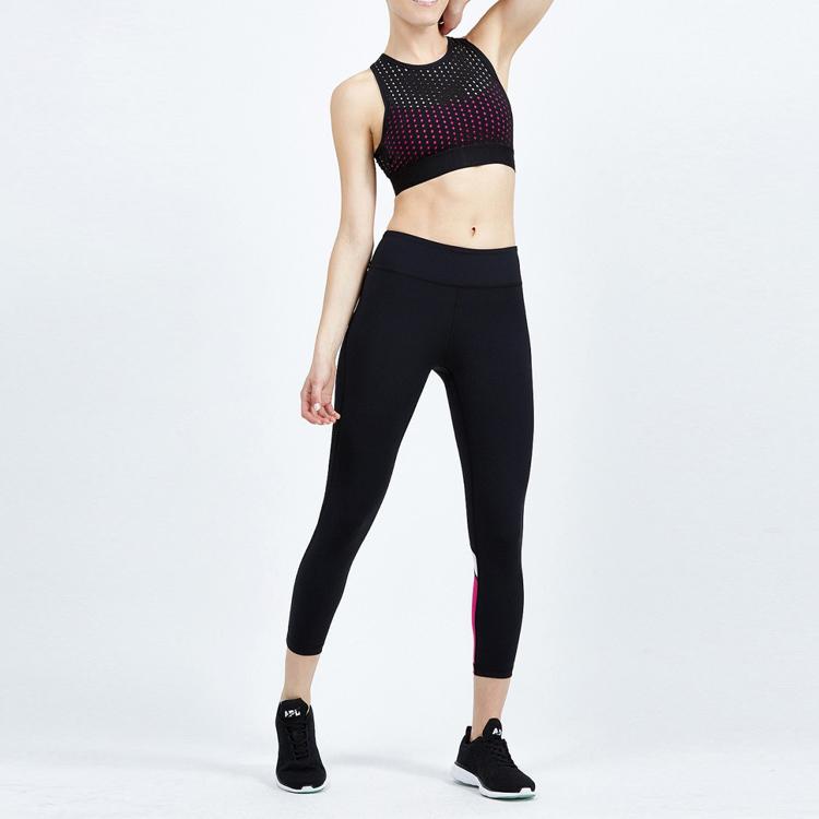 c41eae627631a New Laser Cut Design Custom Sexy Inner Sports Bra Women Yoga Wear Wholesale