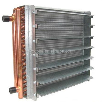 High quality Air to water heat exchanger with fan copper