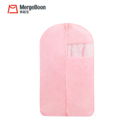 Pink polyester oxford Fabric baby kids size garment bags for clothing cover
