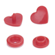 Heart shape plastic snap button snap fastener DIY snaps