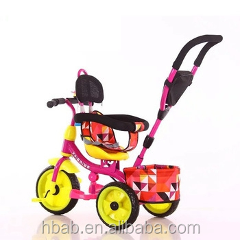 wholesale high quality frame plastic baby tricycle for children/ kinderwagen