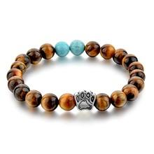 CHICVIE модный натуральный браслет с камнями на запястье, браслеты с собачьей лапой, эластичная веревка, браслет из бисера для мужчин и женщин, ...(Китай)