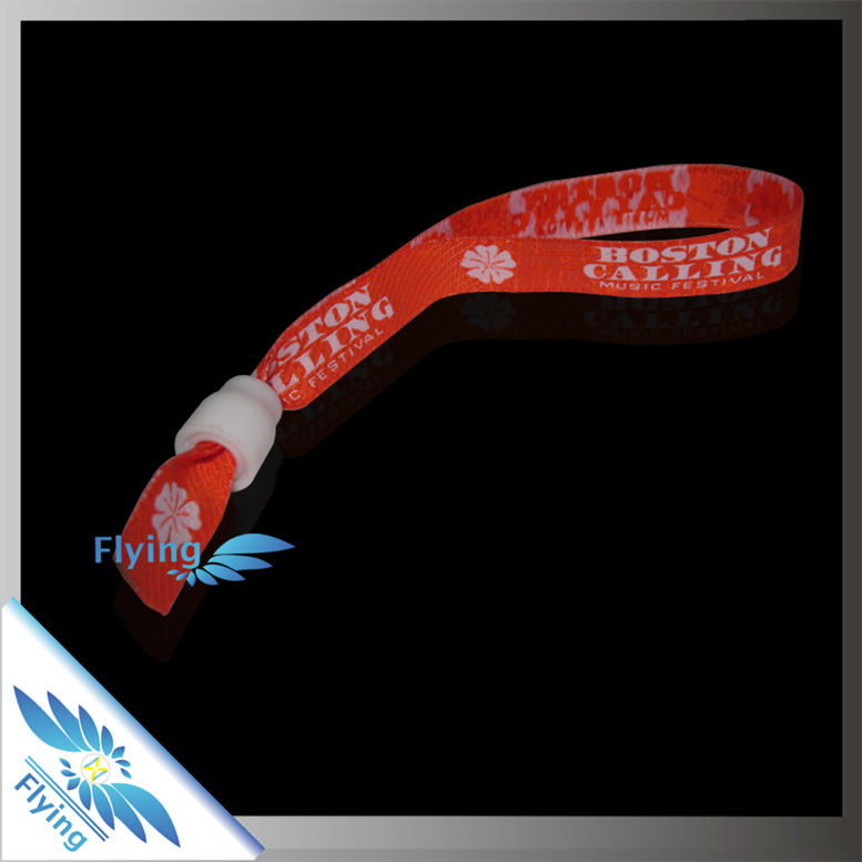 2D barcode promotional woven wristband for event