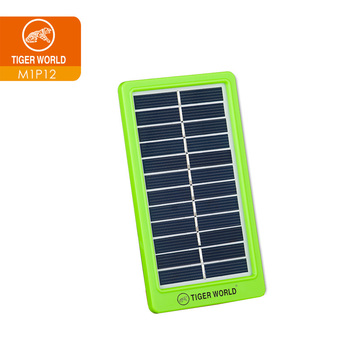 Tiger World 1W 6V 12 cells mini camping mobile charging solar panel for export