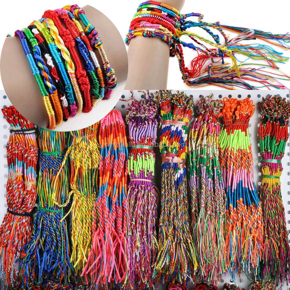 Popular world Wide styles woven friendship bracelet , OEM pattern braided woven bracelet for promotional