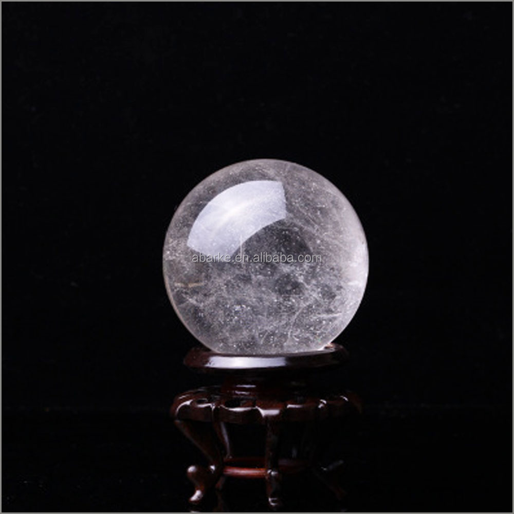 Natürliche white clear quartz crystal ball sphere