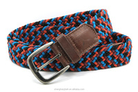 YJ-W1253 Colorful men and women braided elastic belt jeans