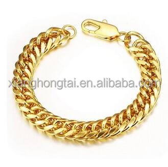 Cuban Curb Link Chain Men's Bracelets Gold Bracelet Designs Men