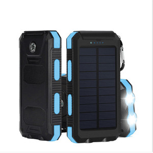Waterproof compass solar energy charger power banks 10000mah