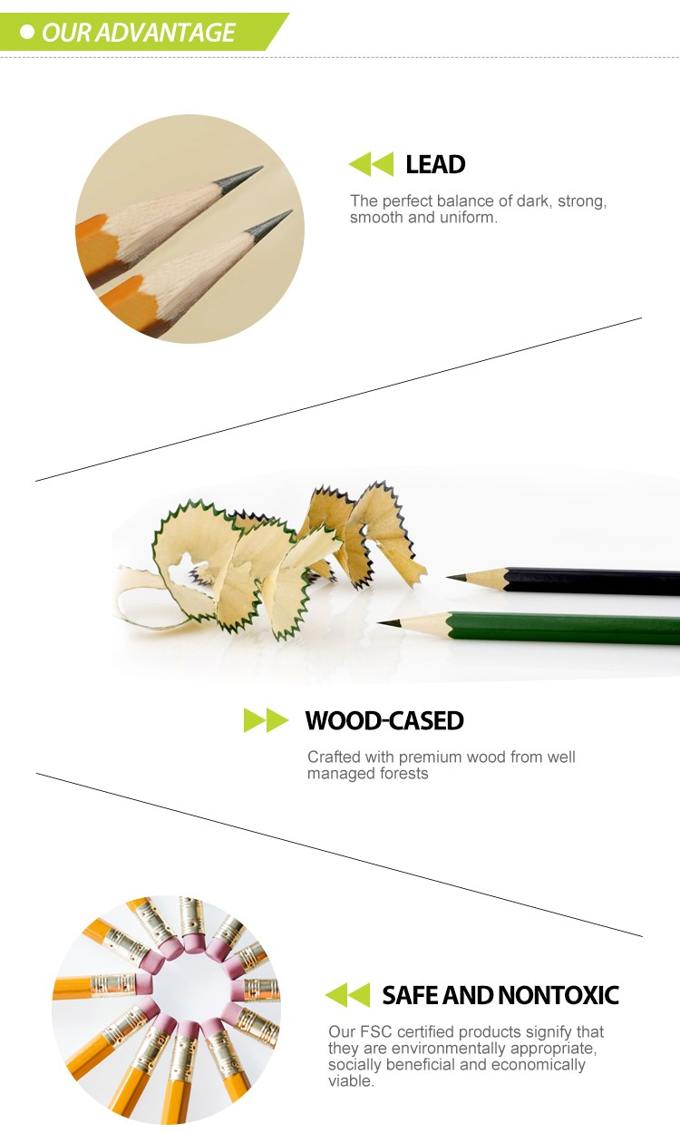 small spot pattern printing pencil wooden HB pencil