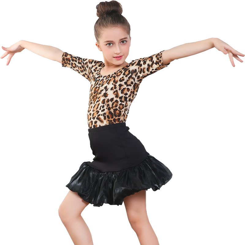 f703342a3451 Children's Little Girl Leopard Latin Dance Costume - Buy Dance ...