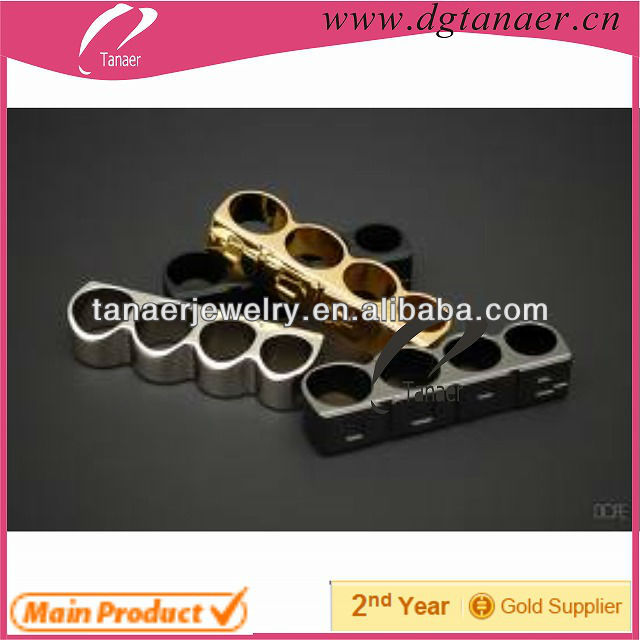 The fashionin jewelry new style four finger ring in China